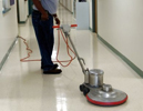 picture of floor machine, buffing and burnishing floor